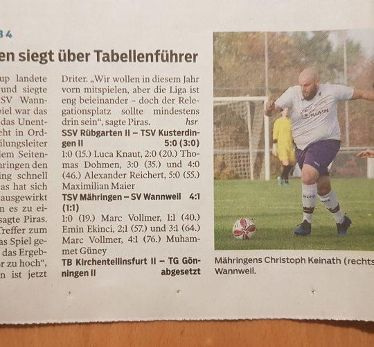 Schwäb. Tagblatt 26.10.2020